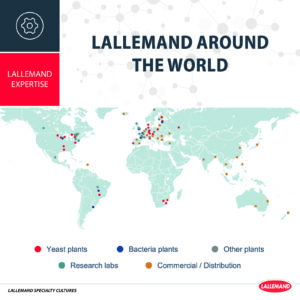 Lallemand's market coverage